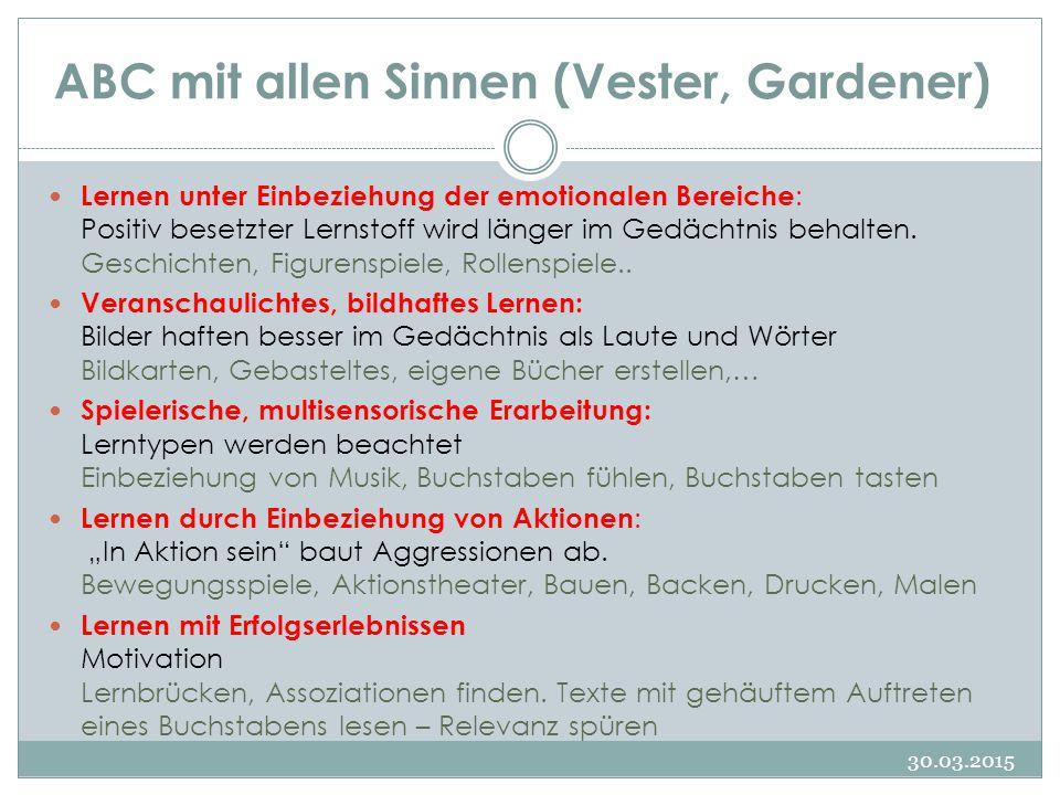 ABC mit allen Sinnen (Vester, Gardener)
