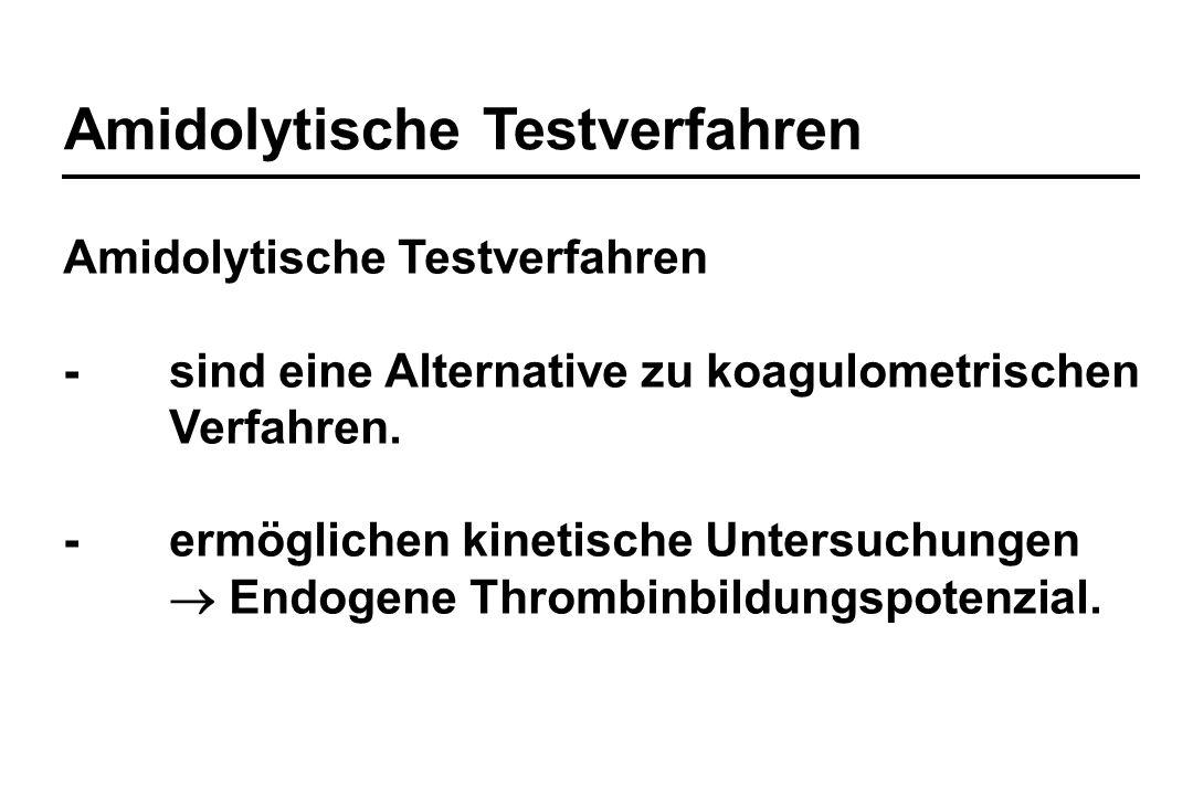 Amidolytische Testverfahren
