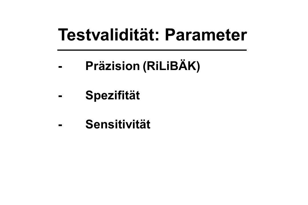 Testvalidität: Parameter