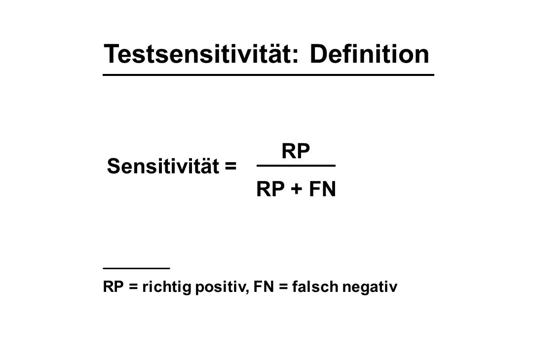 Testsensitivität: Definition