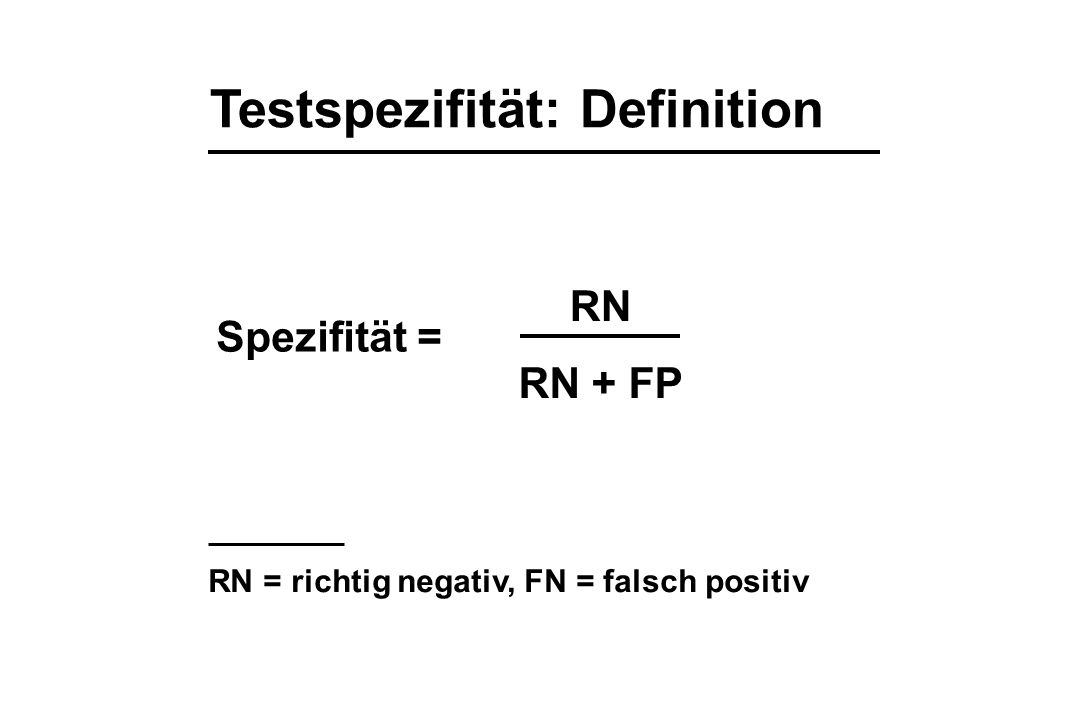 Testspezifität: Definition