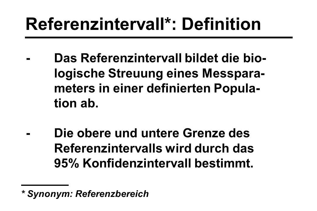 Referenzintervall*: Definition