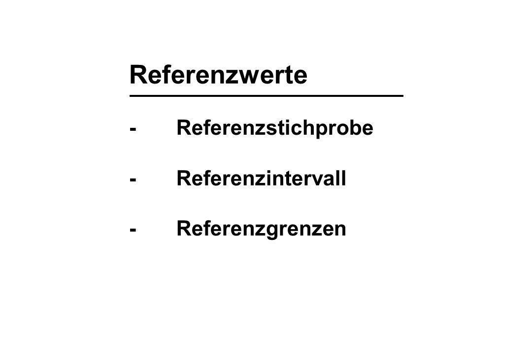 Referenzwerte - Referenzstichprobe - Referenzintervall