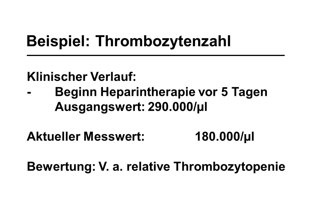 Beispiel: Thrombozytenzahl