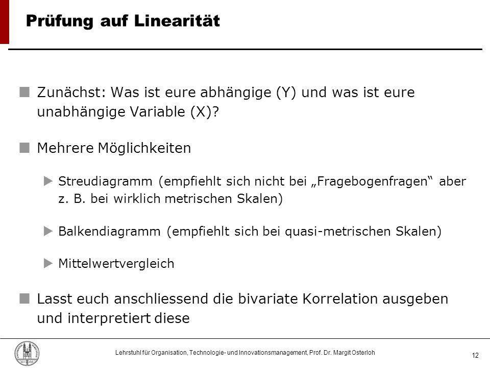 Prüfung auf Linearität