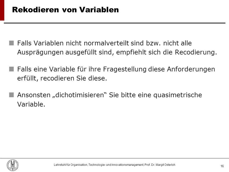 Rekodieren von Variablen