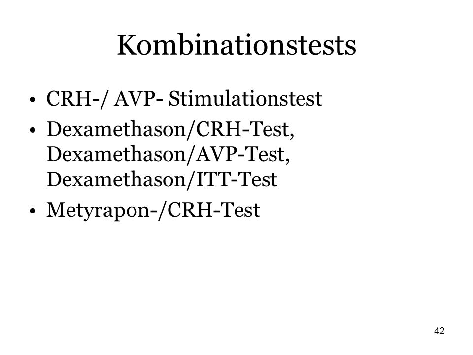 Kombinationstests CRH-/ AVP- Stimulationstest