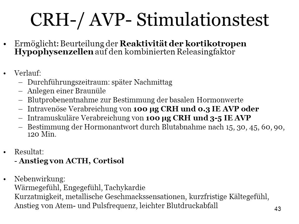 CRH-/ AVP- Stimulationstest