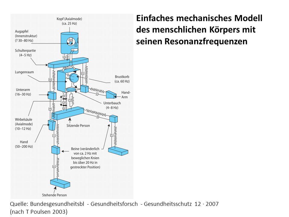 Einfaches mechanisches Modell des menschlichen Körpers mit seinen Resonanzfrequenzen