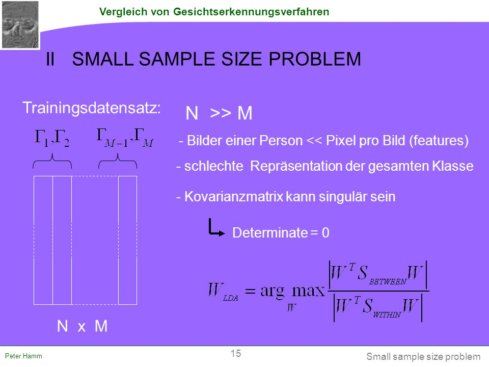II SMALL SAMPLE SIZE PROBLEM