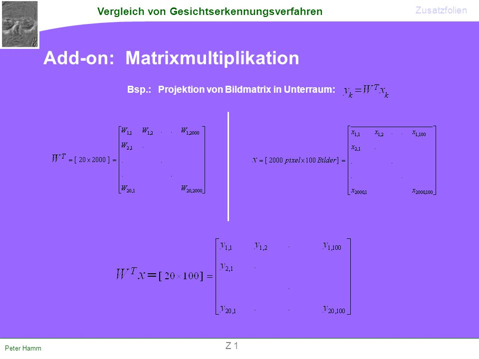 Add-on: Matrixmultiplikation