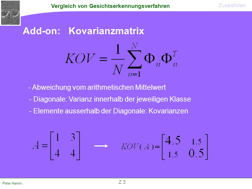 Add-on: Kovarianzmatrix