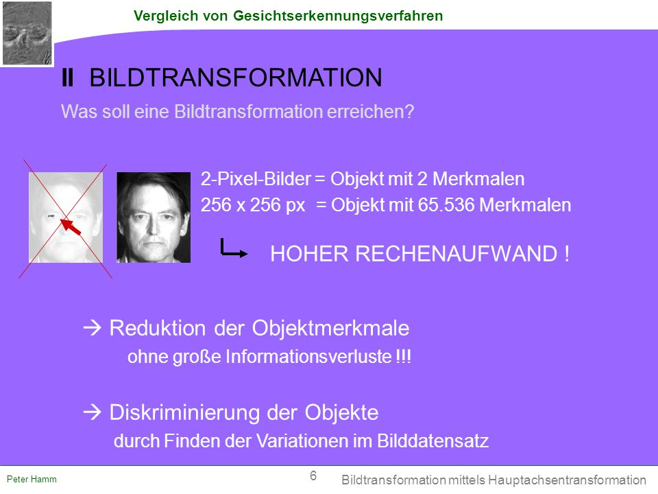 II BILDTRANSFORMATION