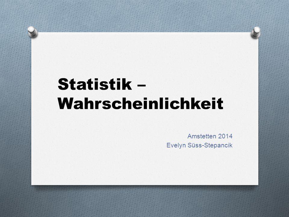 Statistik – Wahrscheinlichkeit