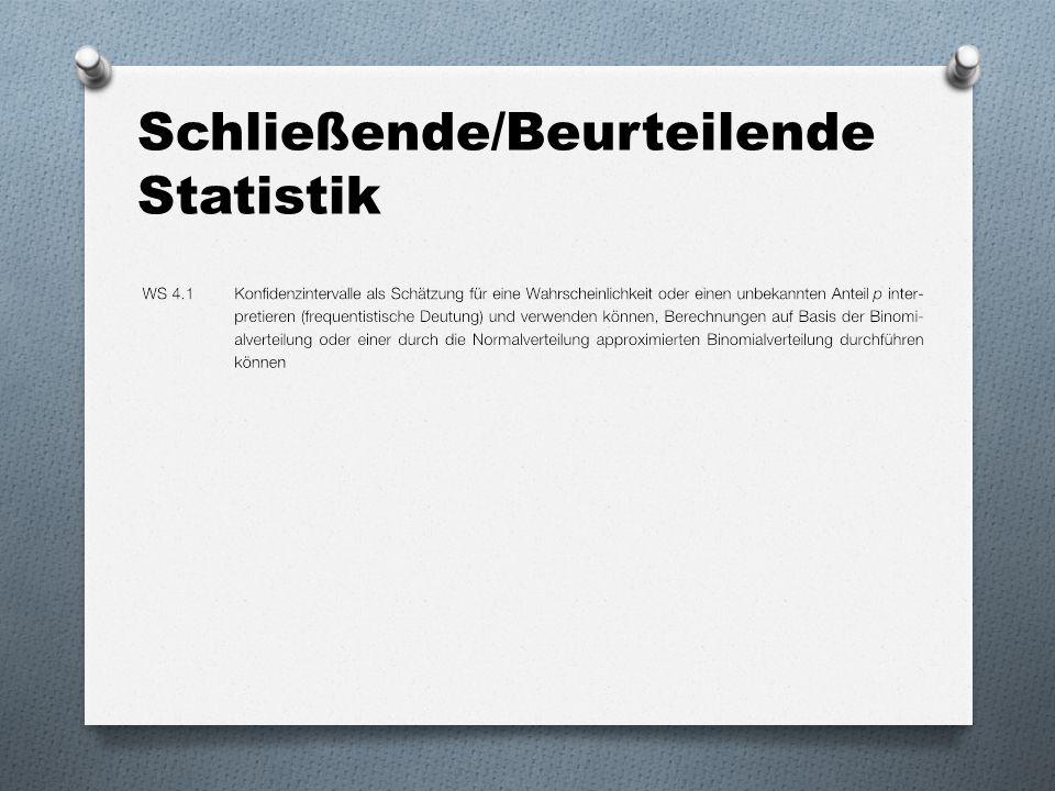 Schließende/Beurteilende Statistik