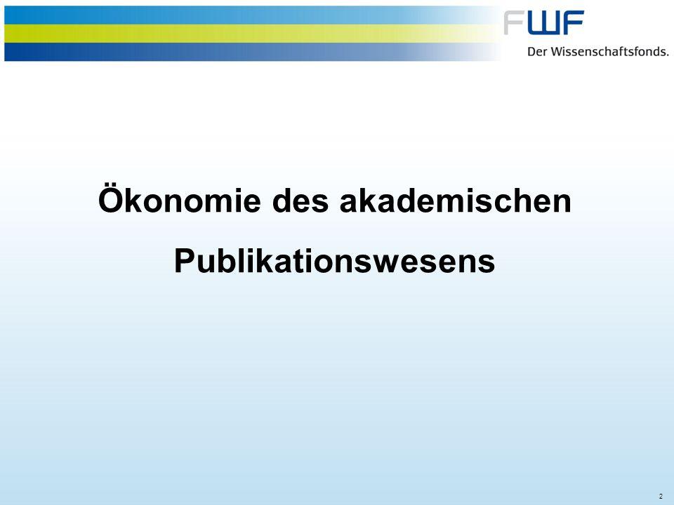 Ökonomie des akademischen Publikationswesens