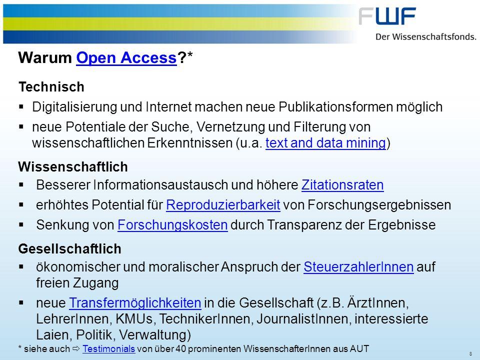 Warum Open Access * Technisch