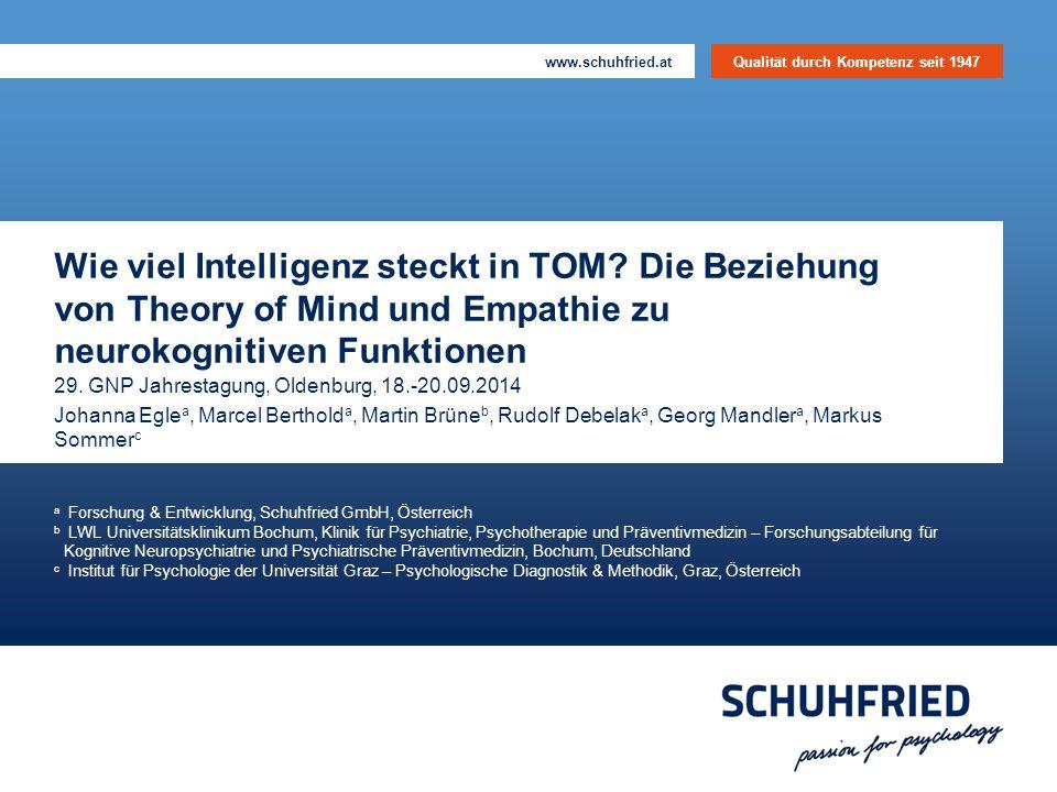 Wie viel Intelligenz steckt in TOM