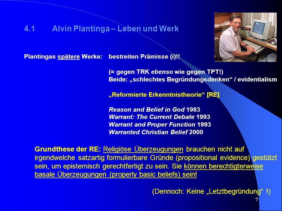 4.1 Alvin Plantinga – Leben und Werk