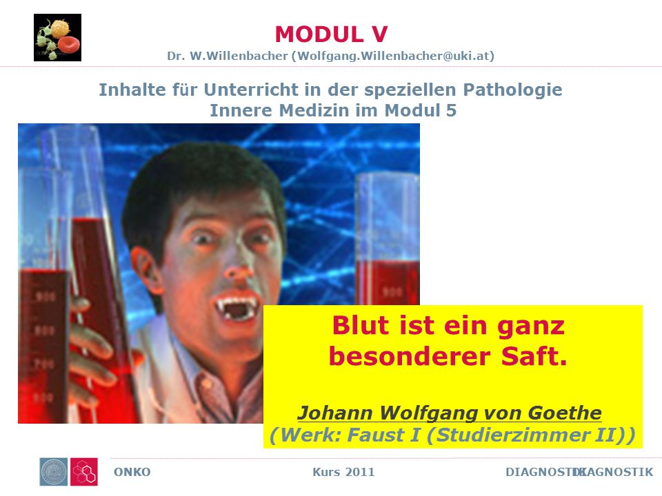 MODUL V Dr. W.Willenbacher (Wolfgang.Willenbacher@uki.at)