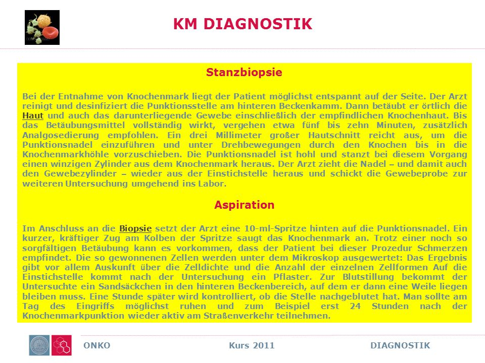 KM DIAGNOSTIK Stanzbiopsie Aspiration