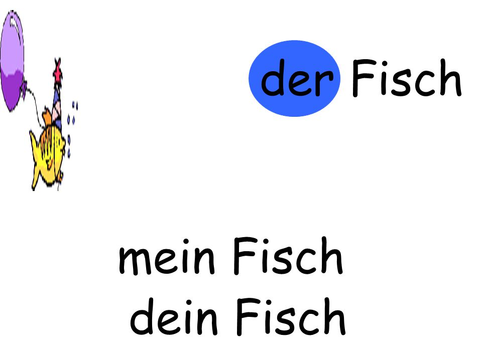 der Fisch mein Fisch m…… Fisch dein Fisch d…… Fisch