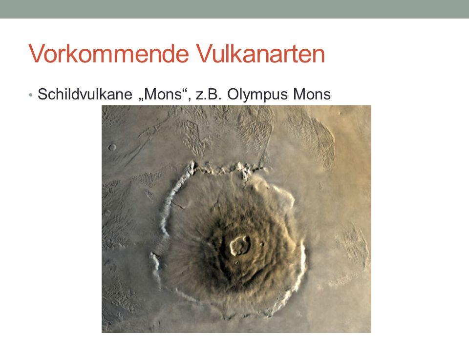 Vorkommende Vulkanarten