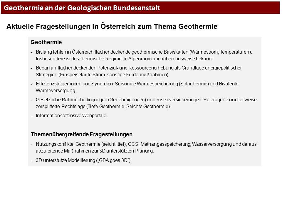 Geothermie an der Geologischen Bundesanstalt