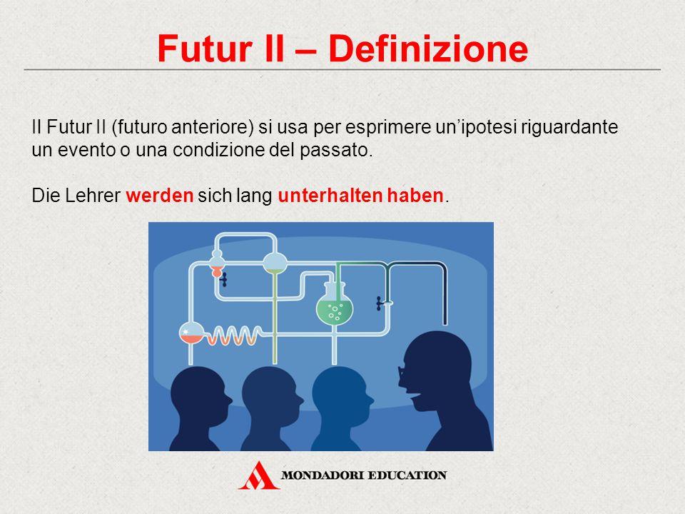 Futur II – Definizione Il Futur II (futuro anteriore) si usa per esprimere un'ipotesi riguardante un evento o una condizione del passato.