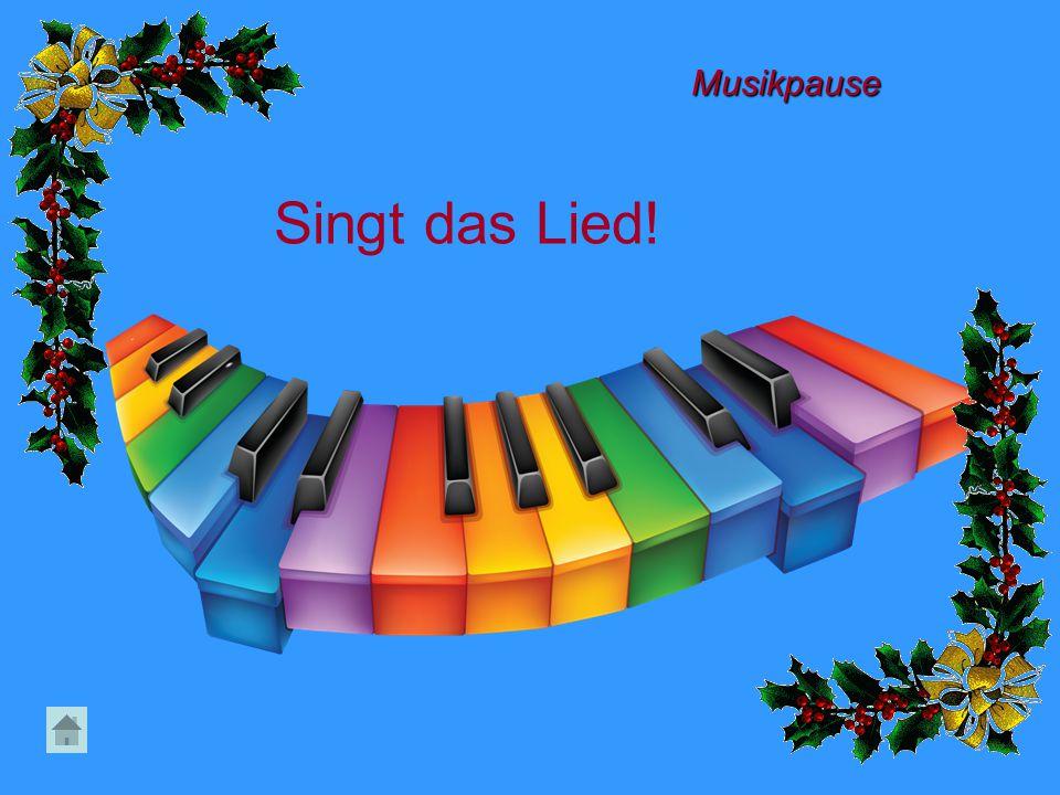Musikpause Singt das Lied!