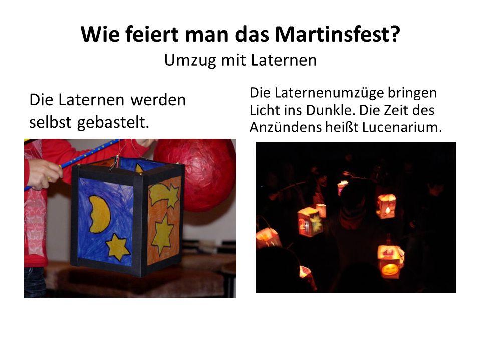 Wie feiert man das Martinsfest Umzug mit Laternen