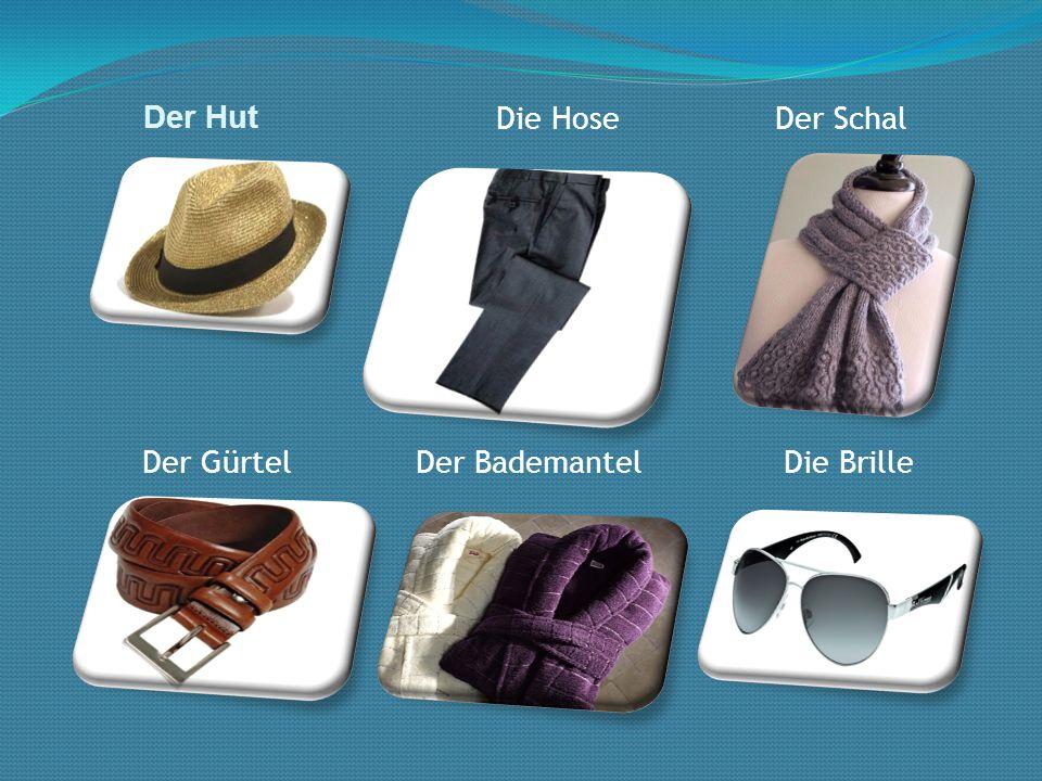Der Hut Die Hose Der Schal Der Gürtel Der Bademantel Die Brille