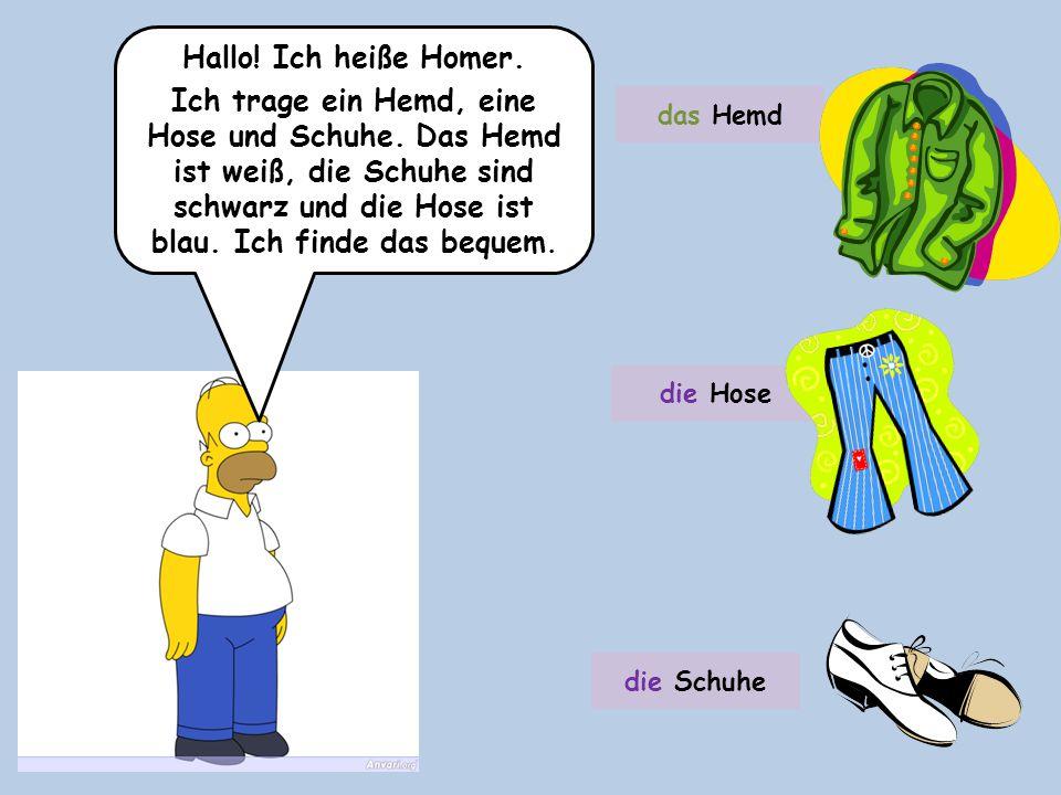 Hallo! Ich heiße Homer.