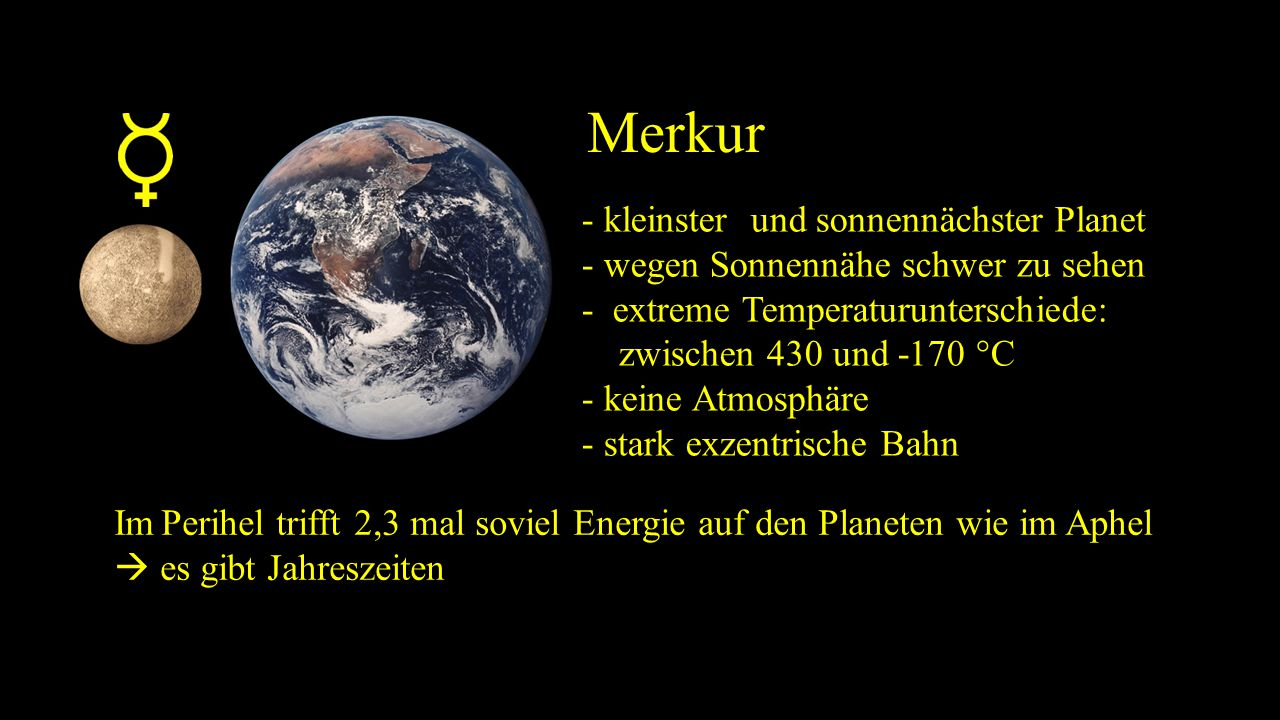 Merkur - kleinster und sonnennächster Planet
