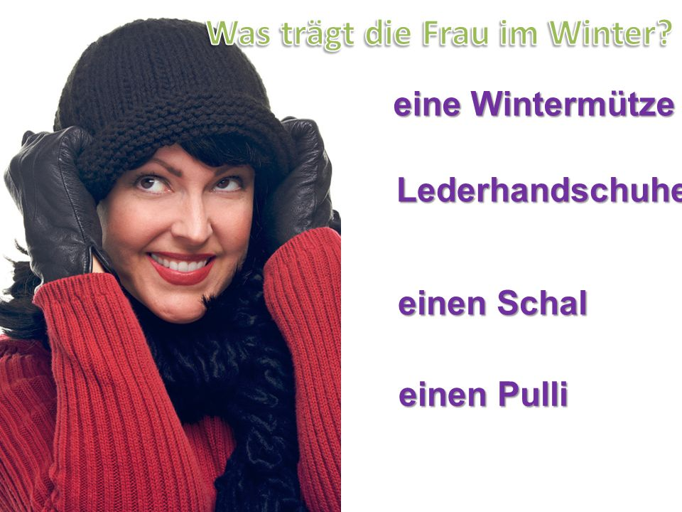 Was trägt die Frau im Winter