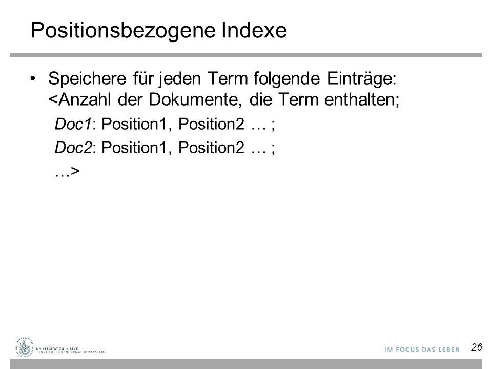 Positionsbezogene Indexe