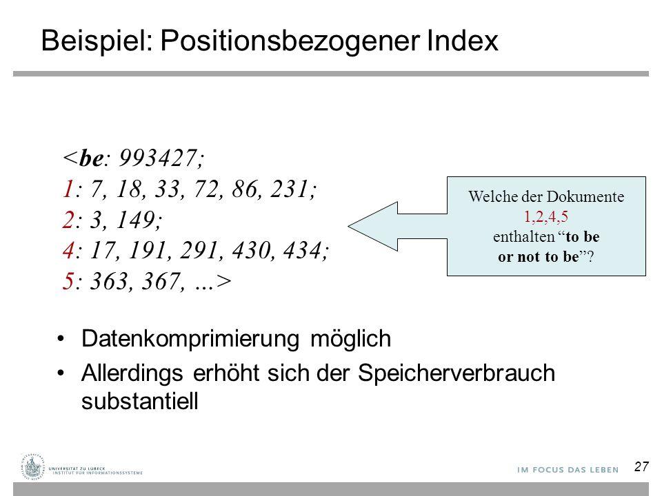 Beispiel: Positionsbezogener Index