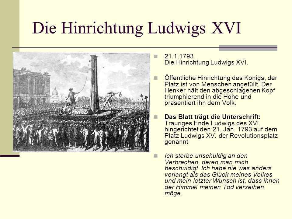 Die Hinrichtung Ludwigs XVI
