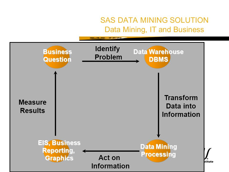 SAS DATA MINING SOLUTION Data Mining, IT and Business