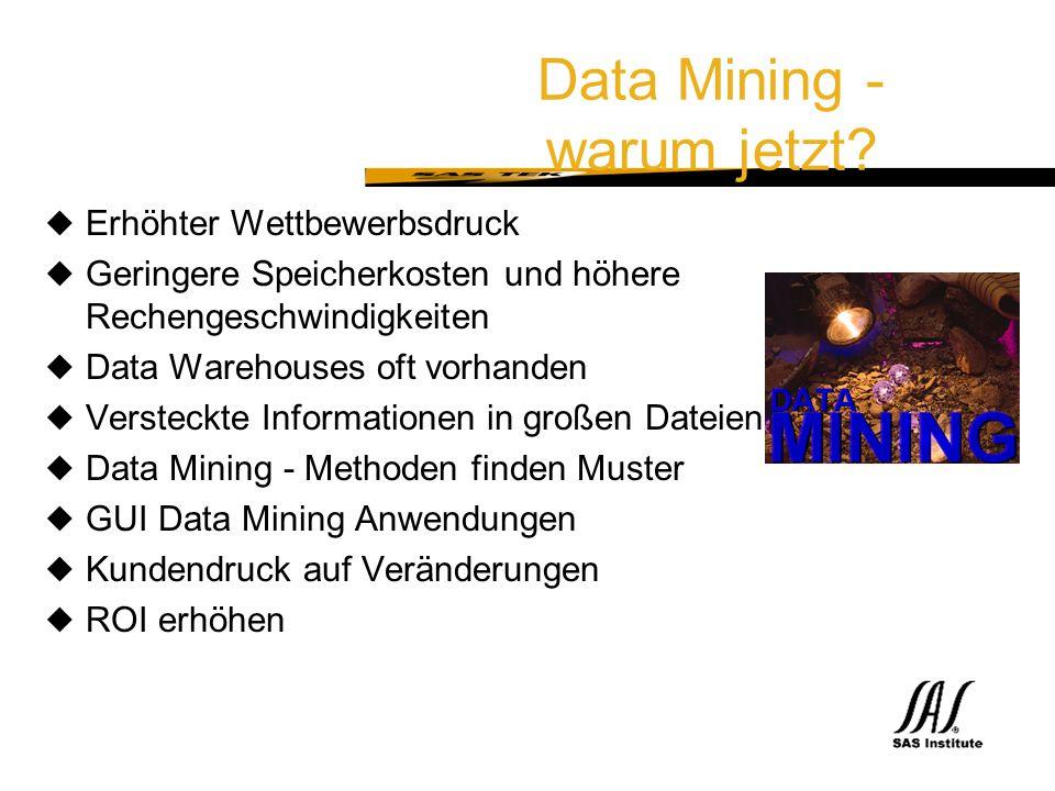 Data Mining - warum jetzt