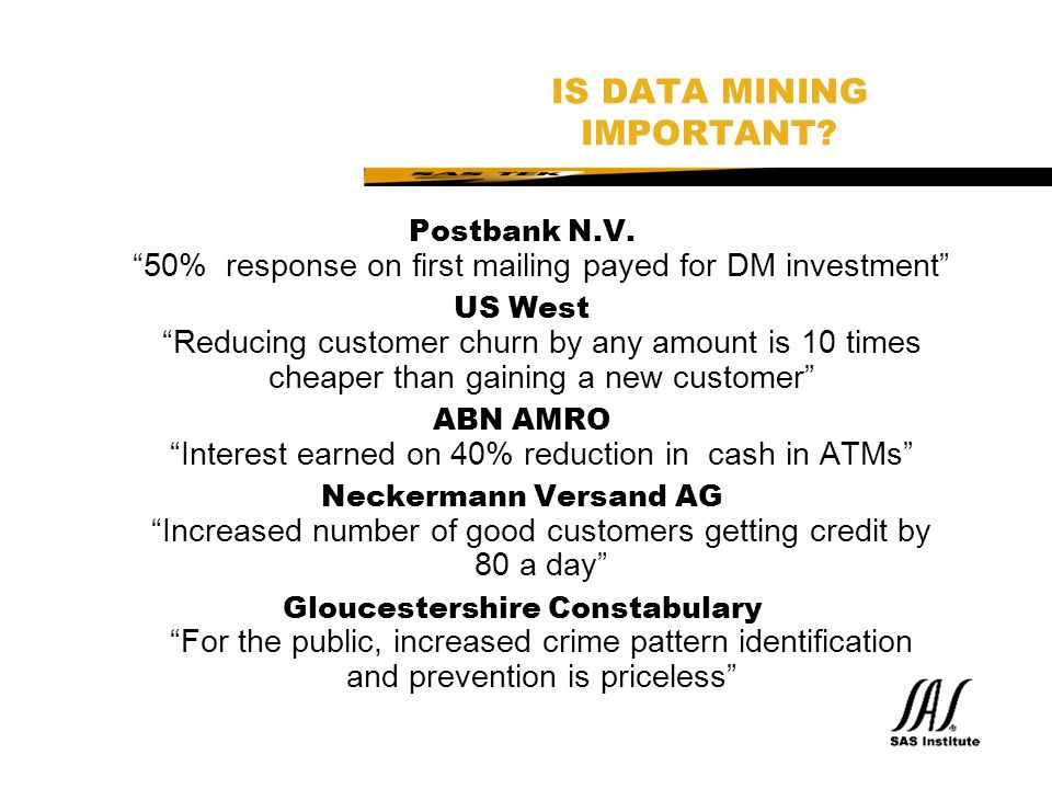 IS DATA MINING IMPORTANT