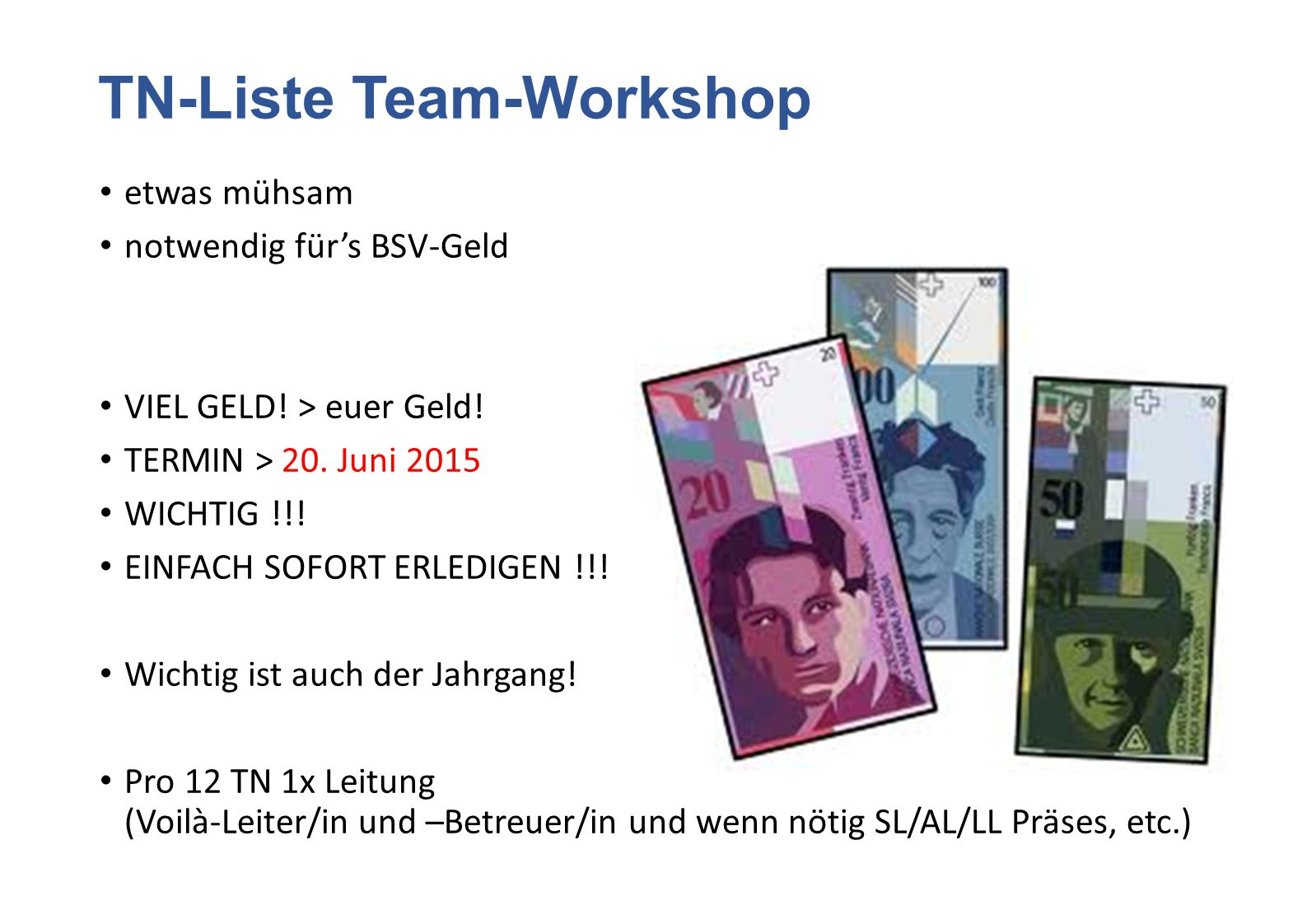 TN-Liste Team-Workshop