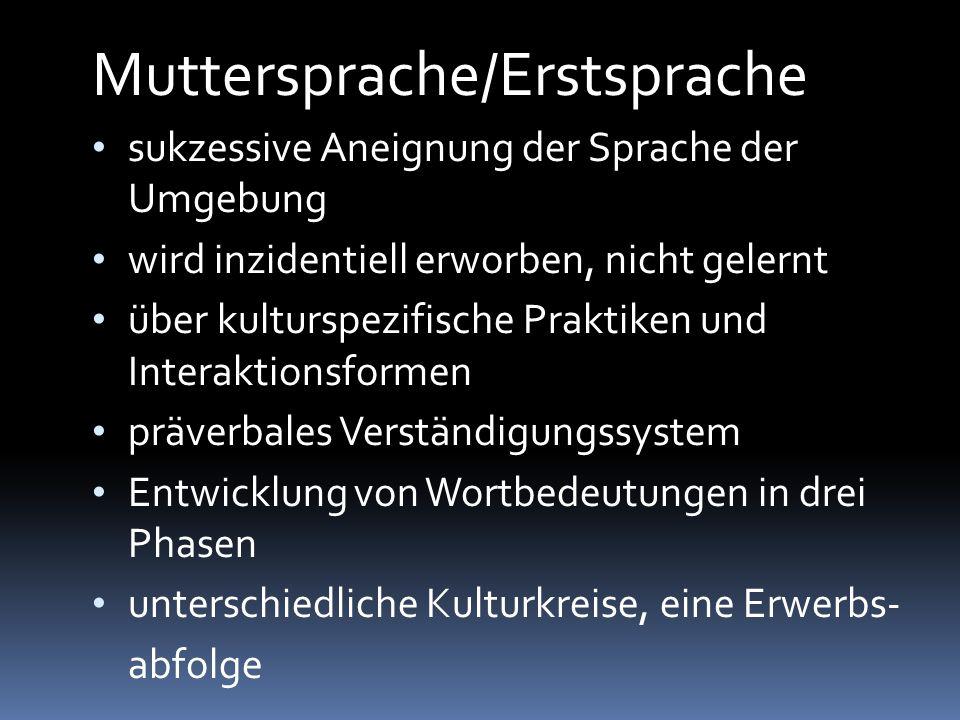 Muttersprache/Erstsprache