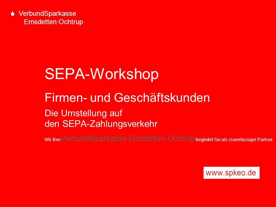 SEPA-Workshop Firmen- und Geschäftskunden