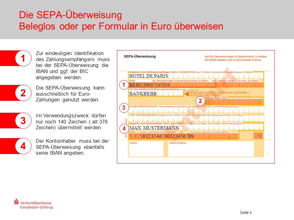 Die SEPA-Überweisung Beleglos oder per Formular in Euro überweisen
