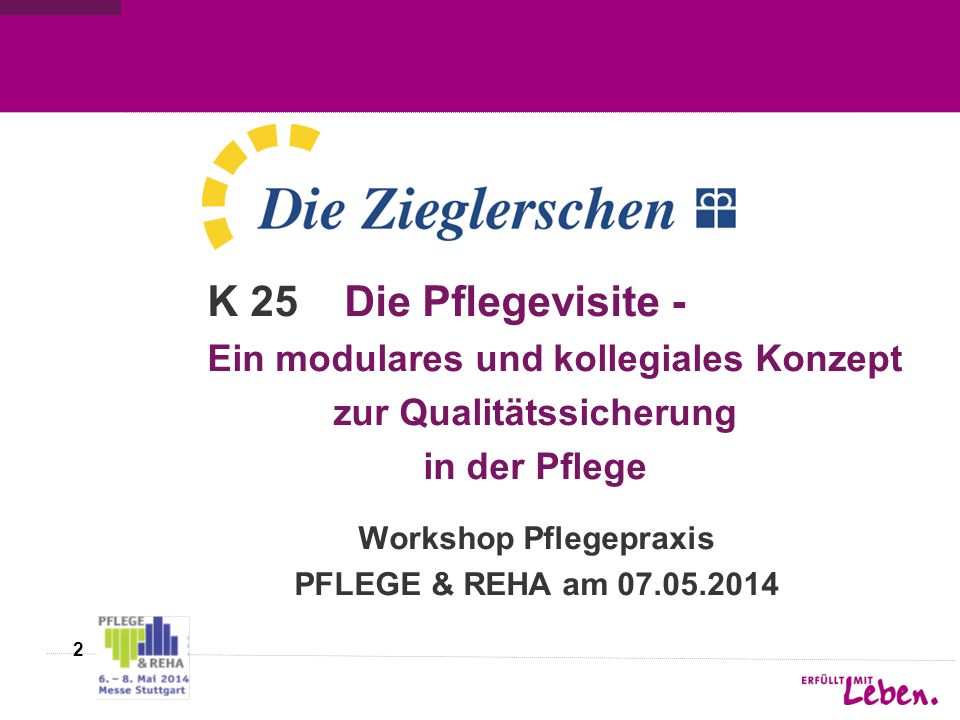 Workshop Pflegepraxis