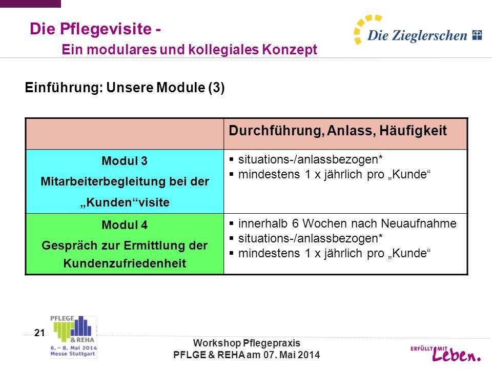 Die Pflegevisite - Ein modulares und kollegiales Konzept