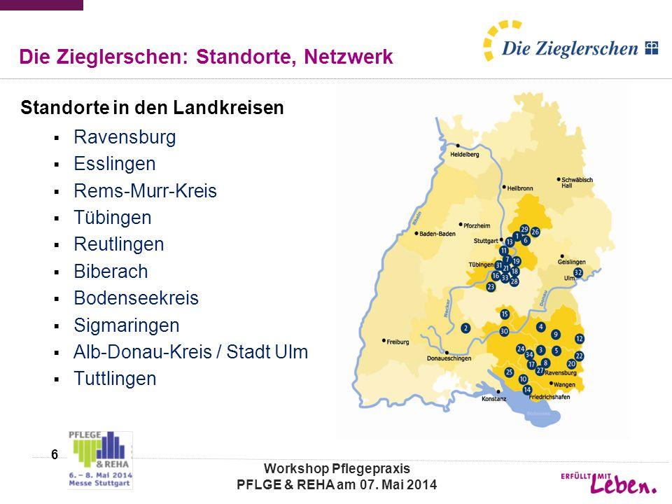 Die Zieglerschen: Standorte, Netzwerk