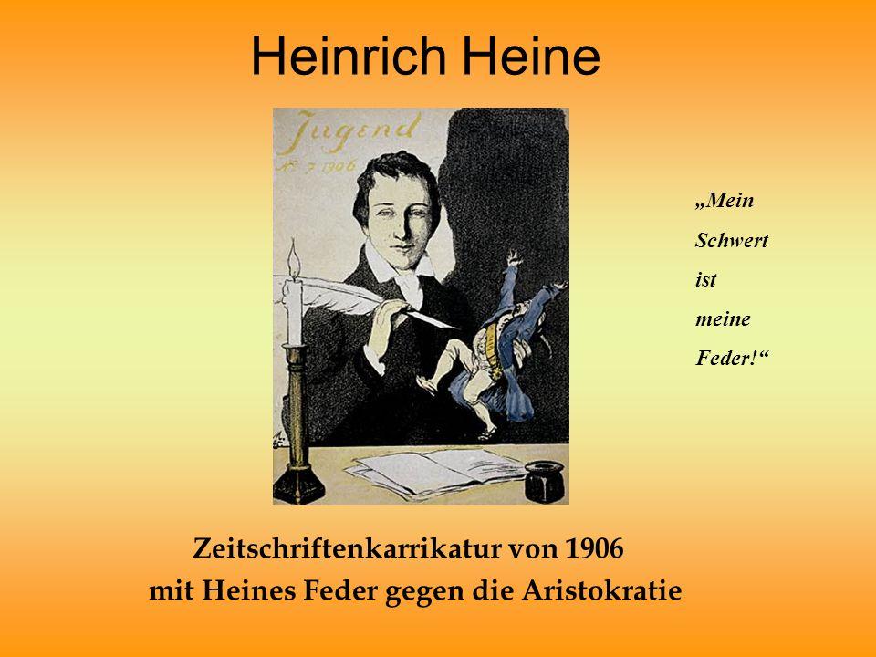 Heinrich Heine Zeitschriftenkarrikatur von 1906
