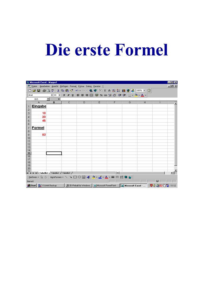 Die erste Formel